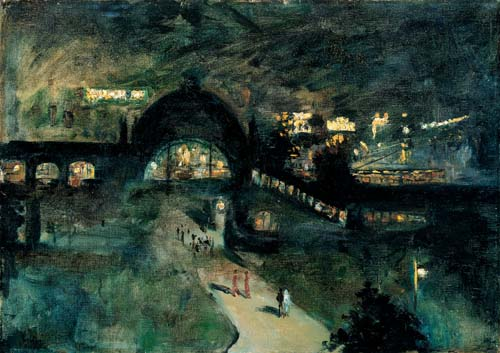 """Nollendorfplatz"". Painting by Lesser Ury (1925)"